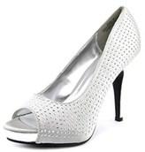 Rampage Gimme Women Peep-toe Canvas Silver Heels.