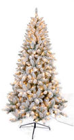 Asstd National Brand 7.5 Ft. Flocked Tree With 450 Ul Lights