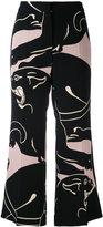 Valentino printed trousers - women - Silk/Spandex/Elastane/Lyocell - 34