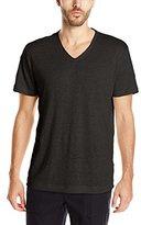 Vince Men's Linen Short Sleeve V Neck T-Shirt