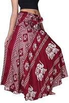 Bangkokpants Women's Long Bohemian Hippie Skirt Elephant US Size 0-12