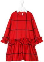 Il Gufo plaid ruffled dress