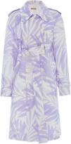 Michael Kors Palm Sunprint Trench Coat