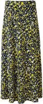 Cédric Charlier foral print midi skirt
