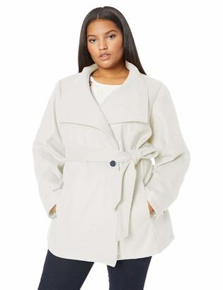 Details Women's Plus Size Faux Wool Fashion Jacket