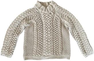 Burberry Beige Wool Knitwear for Women