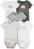 Carter's Baby Girls' or Baby Boys' 5-Pack Short-Sleeve Bodysuits