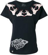 Philipp Plein patch heart hands T-shirt