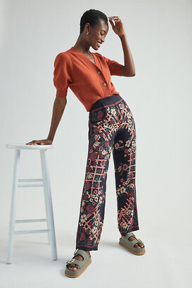 Anna Sui Trellis of Flowers Pants By Anna Sui in Assorted Size 2