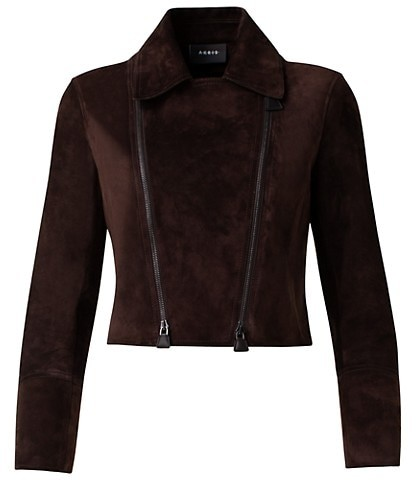 Thumbnail for your product : Akris Suede Moto Cropped Jacket
