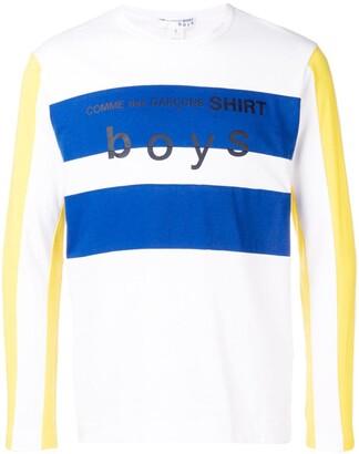 Comme Des Garçons Shirt Boys Panel Long-Sleeved Shirt