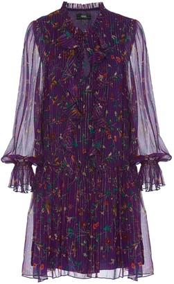 Nissa Golden Thread Silk Mini Dress