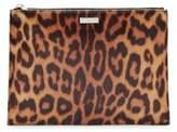 Stella McCartney Leopard Print Faux Fur Pouch