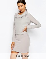 Club L Two In One Dress With Cowl Neck