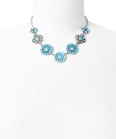 Carole Mint & Silvertone Floral Statement Necklace