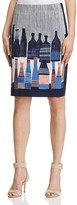 Nic+Zoe Bottle Print Skirt