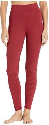 Fila Soni Burnout High-Rise Leggings (Biking Red) Women's Clothing