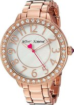 Betsey Johnson Women's Quartz Metal and Alloy Casual Watch, Color:Rose Gold-Toned (Model: BJ00397-25)