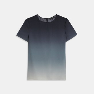Theory Woven Tee in Ombre Silk
