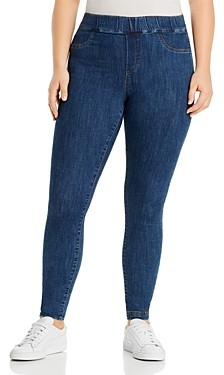 Junarose Plus Daria Legging Jeans in Dark Blue Denim