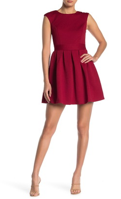 Love, Nickie Lew Cap Sleeve Textured Mini Dress