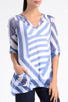 Lynn Ritchie Sheer Stripe Top