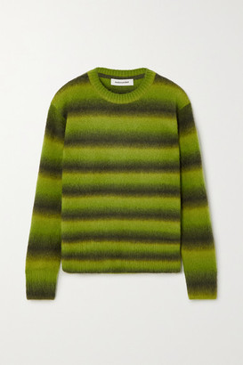 ANDERSSON BELL Striped Knitted Sweater - Bright green