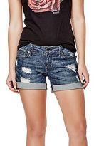 GUESS Women's Monet Cuffed Denim Midi Shorts