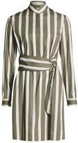 Akris Punto Kodak Stripe Wool Shirtdress