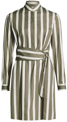Akris Punto Kodak Stripe Wool Shirtdress