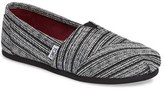 Toms Women's Classic Silver Metallic Stripe Slip-On