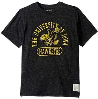 The Original Retro Brand Kids Iowa Hawkeyes Vintage Tri-Blend Tee (Big Kids) (Streaky Black) Kid's Clothing