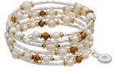 JLO by Jennifer Lopez Simulated Pearl Beaded Coil Bracelet