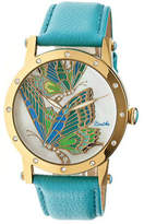 Isabella Collection Women's Bertha BR4302 - Turquoise Leather/Multicolored Analog Watches
