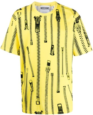 Moschino oversized zip-print T-shirt