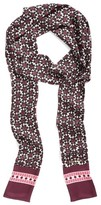 Kate Spade Women's Floral Tile Silk Skinny Scarf