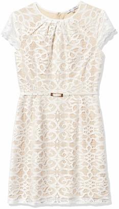 Sandra Darren Women's 1 Pc Cap Sleeve Lace Sheath Dress