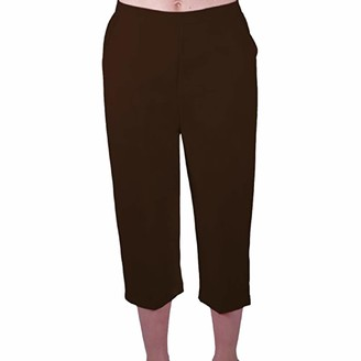Eyecatch - Florida Ladies Capri Crop Shorts Pants Plus Sizes Womens 3/4 Cropped Trousers Navy Size 16