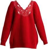 Balenciaga Deep V-neck chunky-knit sweater