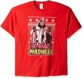 WWE Men's Big and Tall Macho Man X-Mas Madness Ugly Christmas T-Shirt