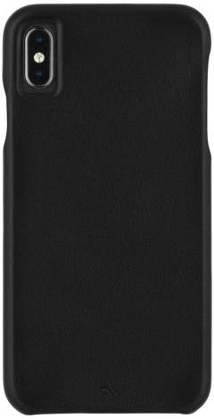 Barely There Case-Mate Apple iPhone XS Max Leather Case - Smooth Black
