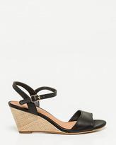 Le Château Leather Open Toe Wedge Sandal