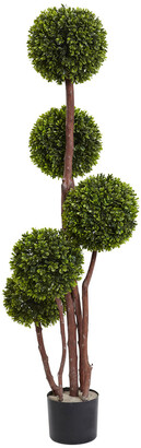 Nearly Natural Boxwood Topiary Tree Uv Resistant