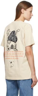 Online Ceramics SSENSE Exclusive Beige 'Golden Teacher' T-Shirt