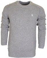 G Star Men's Bick Slub Long Sleeve Heavy Wool Knit Shirt
