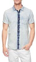 True Religion Men's Short Sleeve Bleached Shirt