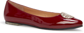 Me Too Claret Patent Amaia Leather Flat