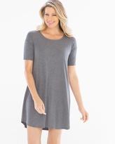 Soma Intimates Loose Fit Short Sleeve Sleepshirt Heather Graphite
