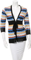 M Missoni Patterned Tie-Front Sweater