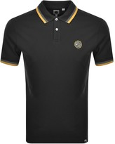Pretty Green Curving Short Sleeved Polo Black